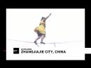 NC Слэклайн в Китае: по стропе на каблуках