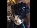Прическа высокий пучок и макияж. @aidalieva_56 ???♀️??♀️ Орск