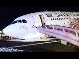 Pesawat Saudi Airlines Mendarat Darurat Tanpa Roda Depan !