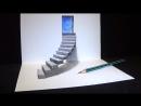 Рисование лестницы к двери в 3D