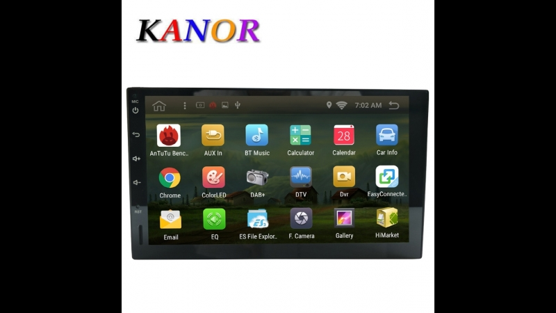 Android 6.0 216g Car GPS Navigation Radio With WIFI BT USB SWC Map