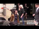 GRANDPA Angus Young from AC DC leaving his hotel in Paris