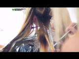 Цветное омбре на длинных волосах. Анастасия Яткова