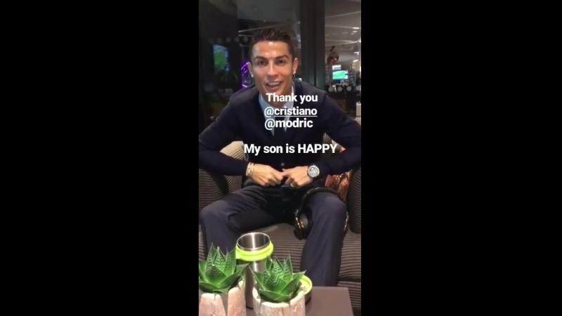 Cristiano Ronaldo envia mensagem a filho de Matic