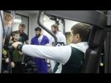 Провели большую тренировку на укрепление бицепсов, плечевых и грудных мышц.