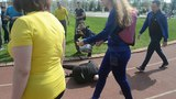 .Трудный финиш Бабарневой Риты, Бахтиной Анжелы на дистанции 500 метров