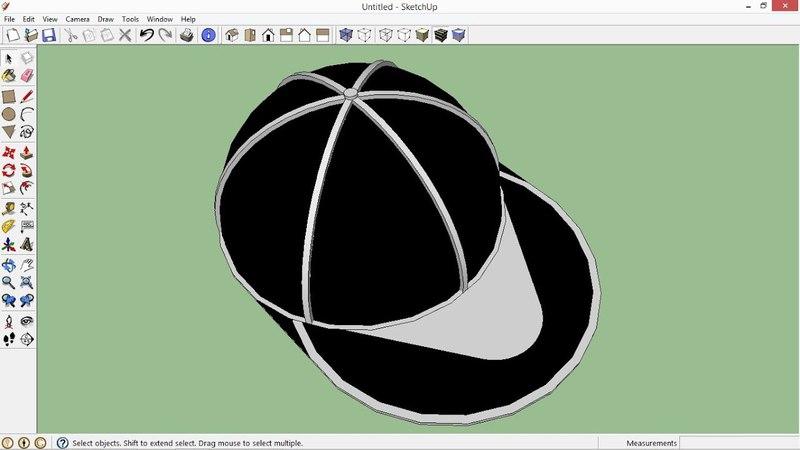 SketchUp Create a Snapback Hat