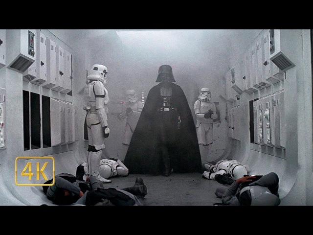Первое появление Дарт Вейдера. Имперская абордажная команда. Звёздные войны Эпизод 4 (1977)