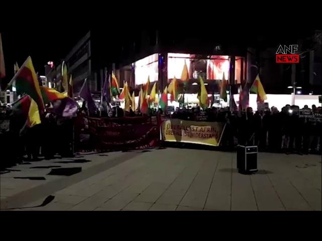Hannover'de Efrîn Saldırısına Protesto