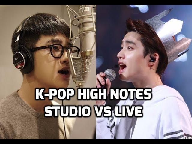 K-Pop High Notes : Studio Recordings vs Live Performances [Male Vocalists] 남자아이돌 - 고음비교: 스튜디오 vs 라이브