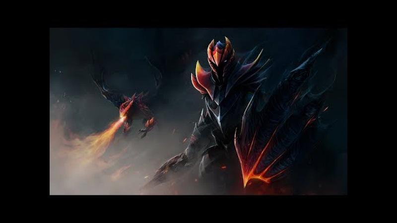 Невероятный ремпейдж от Devil на мидовом Dragon Knight . Dota 2