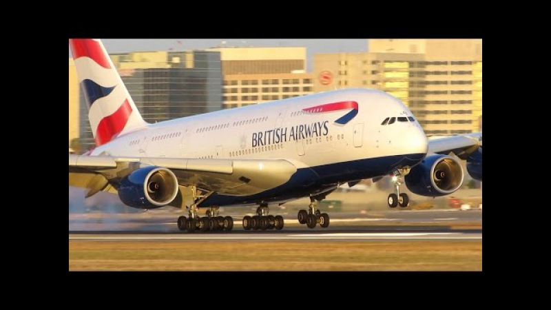 TOP 8 Airbus A380-800 Landings! Which Airline Lands the A380 Best? [Full HD]