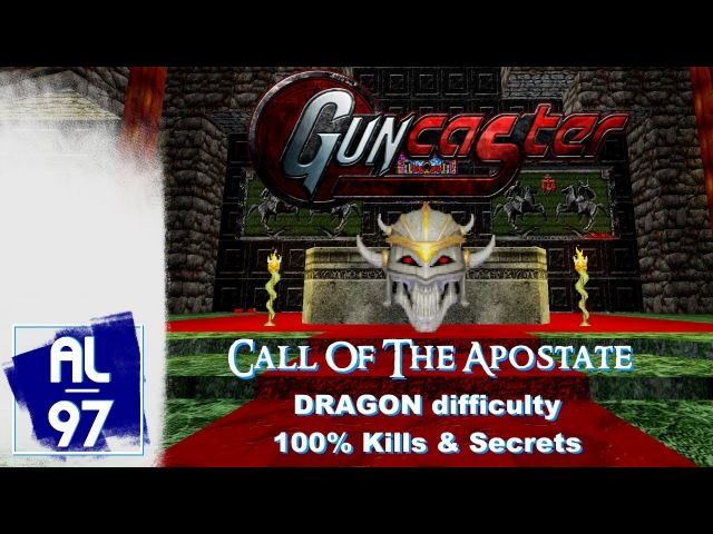 [HERETIC] CALL OF THE APOSTATE.wad (Guncaster mod, Dragon difficulty, 100% Kills Secrets)