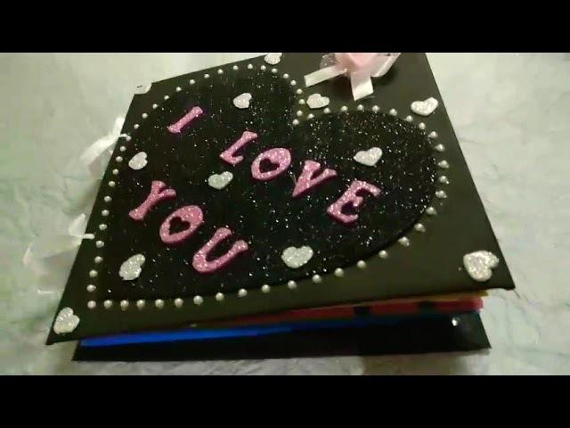 A lovely birthday card fr ur love.... 😚😍☺