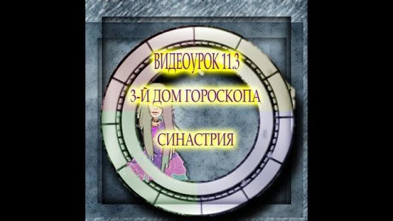 ВИДЕОУРОК 11.3 ТРЕТИЙ ДОМ ГОРОСКОПА. СИНАСТРИЯ. АСТРОЛОГИЯ ВЗАИМООТНОШЕНИЙ