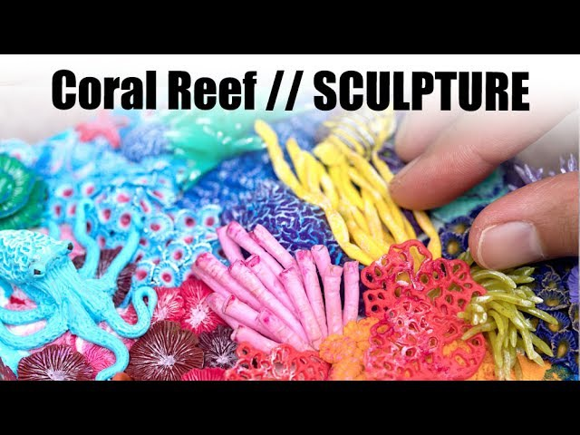 Miniature Coral Reef with Polymer Clay Speed Sculpting