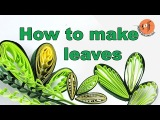 How to make quilling leaves in 4 types