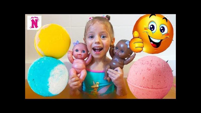 БОМБОЧКИ для ванны Челлендж BATH BOMB CHALLENGE Видео для детей