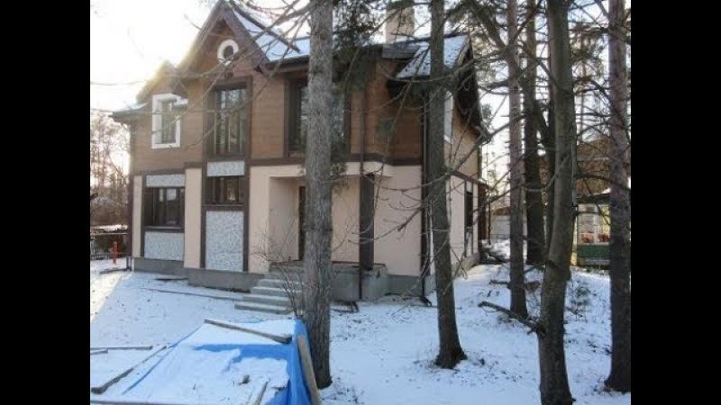 Брусовый дом утеплён минватой вентилируемый фасад дальше штукатурка по вентфа
