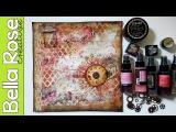 Vintage Rose Paper + Ephemera + Lace - Mixed Media Art Journal