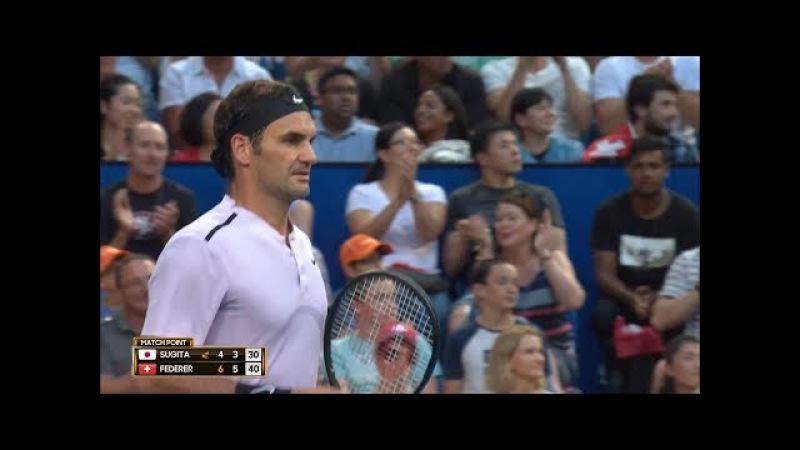 Roger Federer v Yuichi Sugita highlights (RR) | Mastercard Hopman Cup 2018