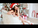 Behind the scenes Sexy Santa Clause in red lingerie Xmas with Tcivina Galina Merry Christmas