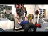 Zahir Khudayarov 200 x 3 raw bench press