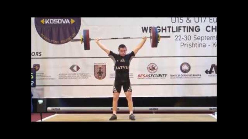Men U17 69kg 2017 EUROPEAN WEIGHTLIFTING CHAMPIONSHIPS U15 U17