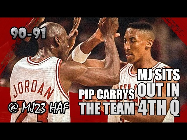 Michael Jordan Scottie Pippen Highlights vs Pistons (1991.04.21)-46pts ALL,PIP Carrys BULLS in 4Q!