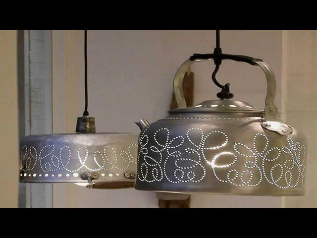 Мир поделок и самоделок светильники из чайников своими руками Идеи хенд мейд дл ...