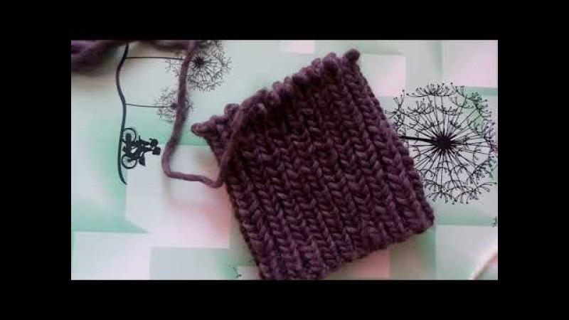 шапка из толстой пряжи/ шапка на толстых спицах / шапка из перуанской шерсти