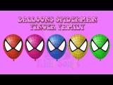 The Finger Family Easter Egg Balloons Spiderman Family Nursery Rhyme  Spiderman Finger Family Song