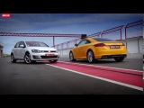 Audi TT 2.0 quattro vs VW Golf GTI   тес... DRIVE.RU (480p)