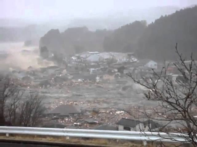 南三陸町を襲った津波の一部始終 tsunami Minamisanriku, Miyagi, japan