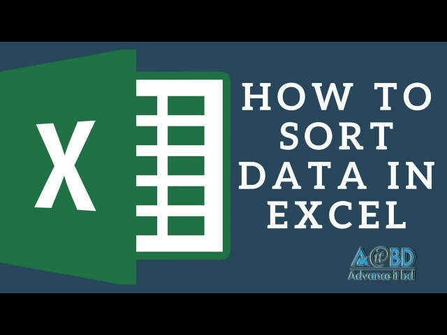 How to Sort in Excel - Excel Tutorial for Beginners in Bangla (2018)