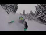 Epic snowboarding day. Ride Warpig 2018 test!