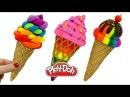 Пластилин Play Doh Лепим Мороженое. Поделки из пластилина Плей До для детей. Play Doh Ice Cream