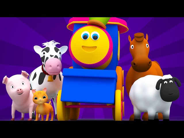 Bob The Train Went To The Farm Old MacDonald Animal Sound Song Nursery Rhymes Bob Cartoons S01EP13