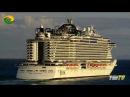 MSC Seaside e Aida - Partida do Funchal - Ilha da Madeira - 10-12-2017.