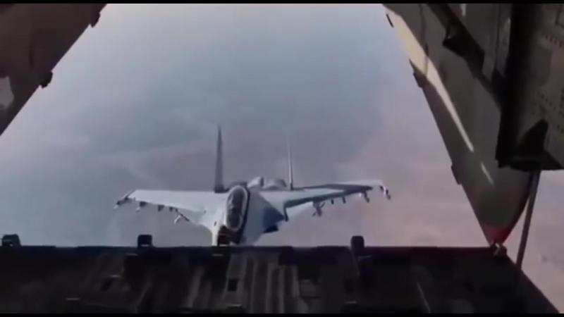 Сирия.Су-30 заглянул внутрь Ил-76._Syria.Su-30 looked inside the iL-76