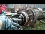 Tatra 815 Татра снятие задней ступицы