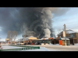 Пожар на обувной фабрике в Искитиме (Новосибирская область)