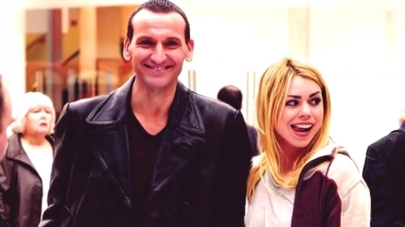 Christopher Eccleston Billie Piper. Behind the scenes. Кристофер Экклстон и Билли Пайпер