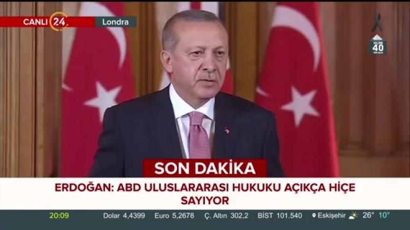 Cumhurbaşkanı Erdoğan, İngiltere Başbakanı May ile ortak basın toplantısı düzenledi