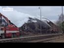 Пожарные в Чехии больше недели сражаются с пожаром на заводе Кроношпан