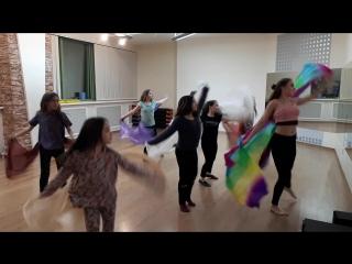 Детская группа восточного танца в школе танца Феерия