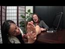 Distracted Secretary Foot Tickles