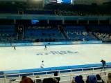ОИ2014 Юлия Липницкая Тренировка ОИ Сочи 2014 Личный турнир