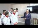 Награждение детской хоккейной команды Горняк на Учалинском ГОК