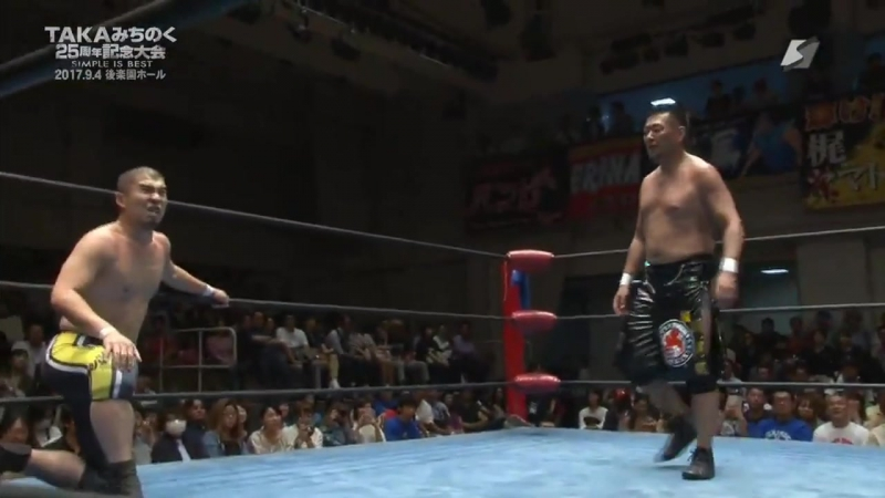 Daigoro Kashiwa, MIYAWAKI vs. Hi69, Yasu Urano (K-DOJO - TAKA Michinoku 25th Anniversary Show ~ SIMPLE IS BEST ~)